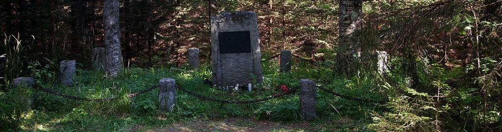 Minnesmärke för de 36 kvinnor som avrättades vid en myr i Hauho kommun.