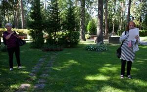 Den förstörda minnesstenen stod där de tre träden står till vänster i bilden,
