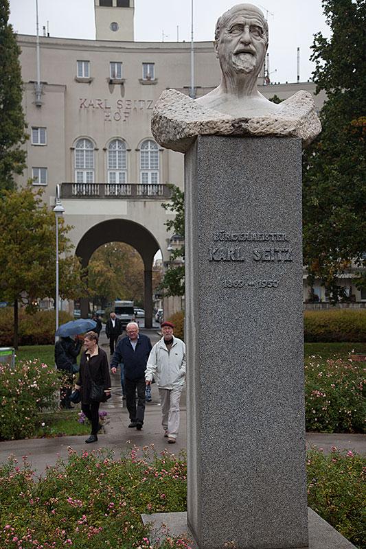 Borgmästaren Karl Seitz Hof var ett annat bostadsområde som byggdes 1926´1933…